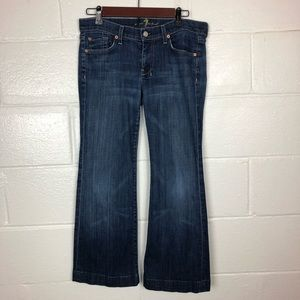7 For All Mankind Dojo wide leg Crop Jeans 28